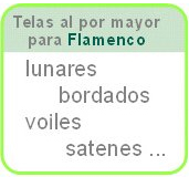 Baner: telas al por mayor flamenco: lunares, bordados, voiles, satenes, ...
